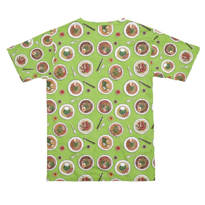 Green Ramen Bowls Men's Cut & Sew by Sarah Becan