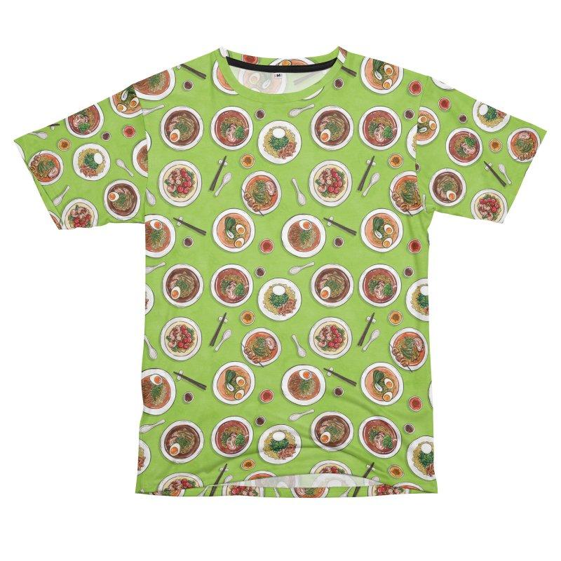 Green Ramen Bowls Men's T-Shirt Cut & Sew by Sarah Becan