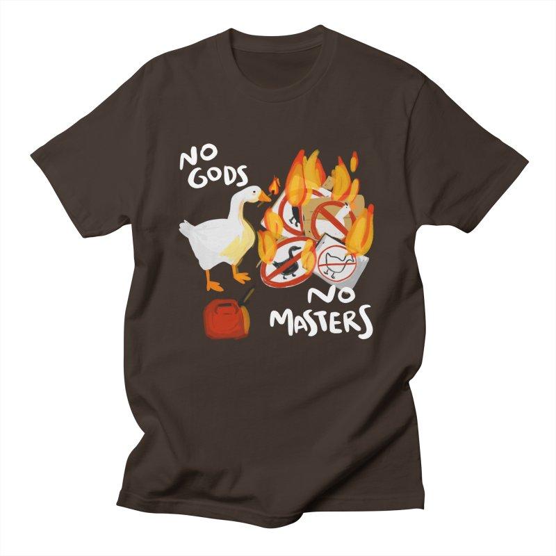No Gods - No Masters Men's T-Shirt by Sarah Becan