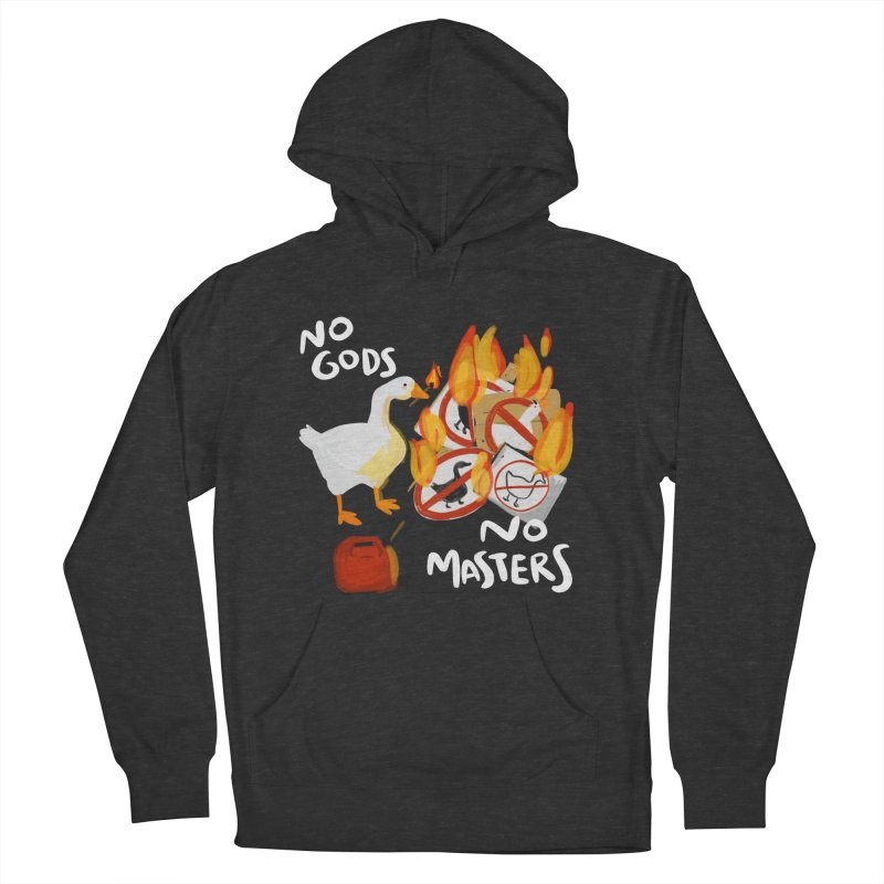 No Gods - No Masters Men's French Terry Pullover Hoody by Sarah Becan