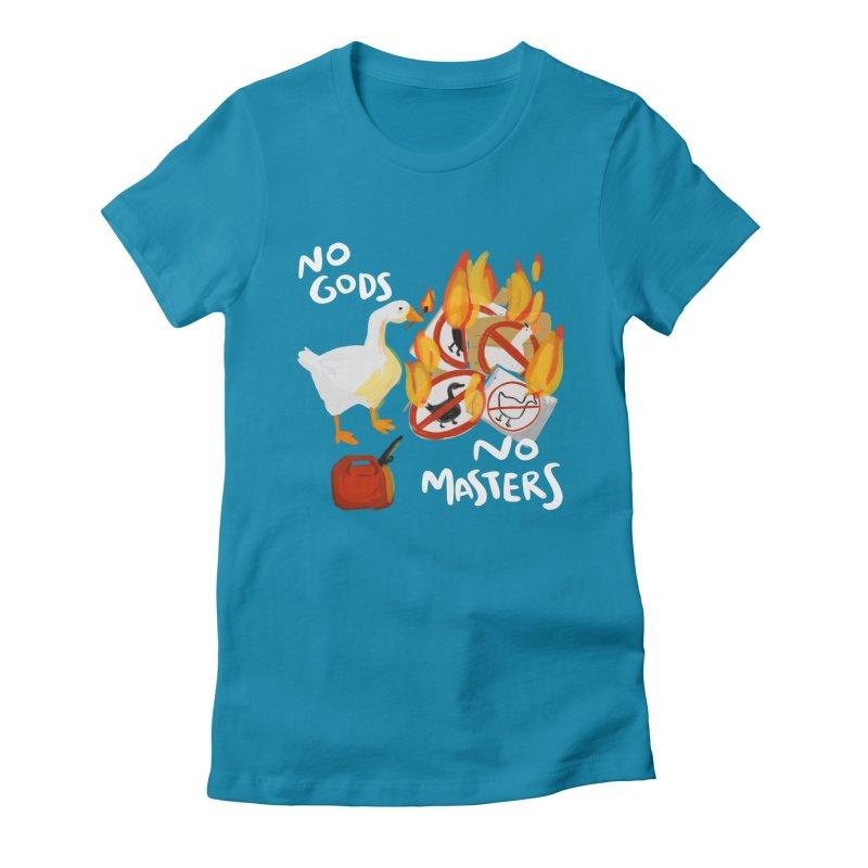 No Gods - No Masters Women's T-Shirt by Sarah Becan
