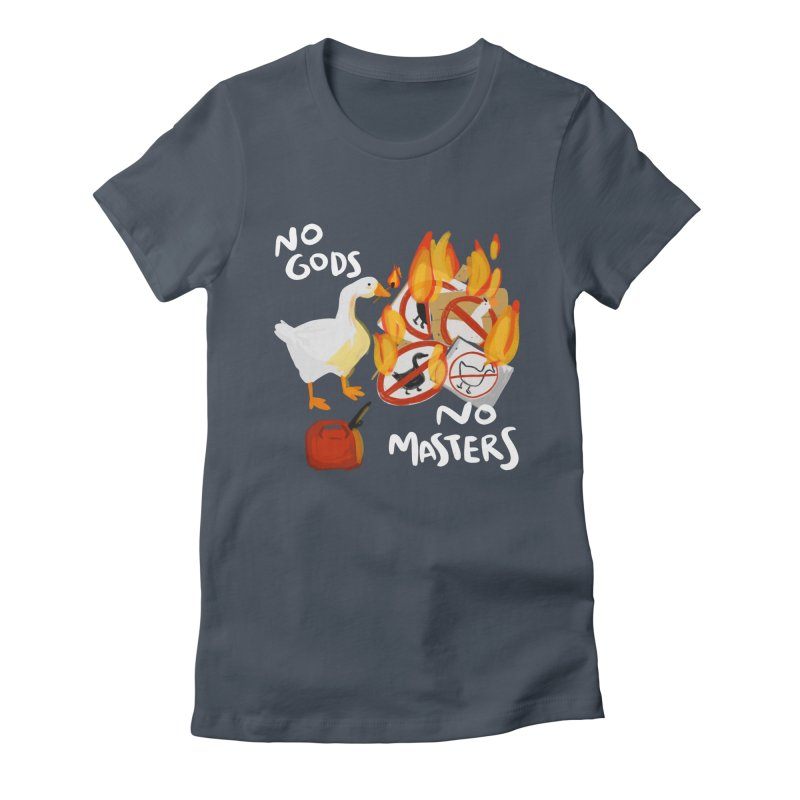 No Gods - No Masters Women's Fitted T-Shirt by Sarah Becan