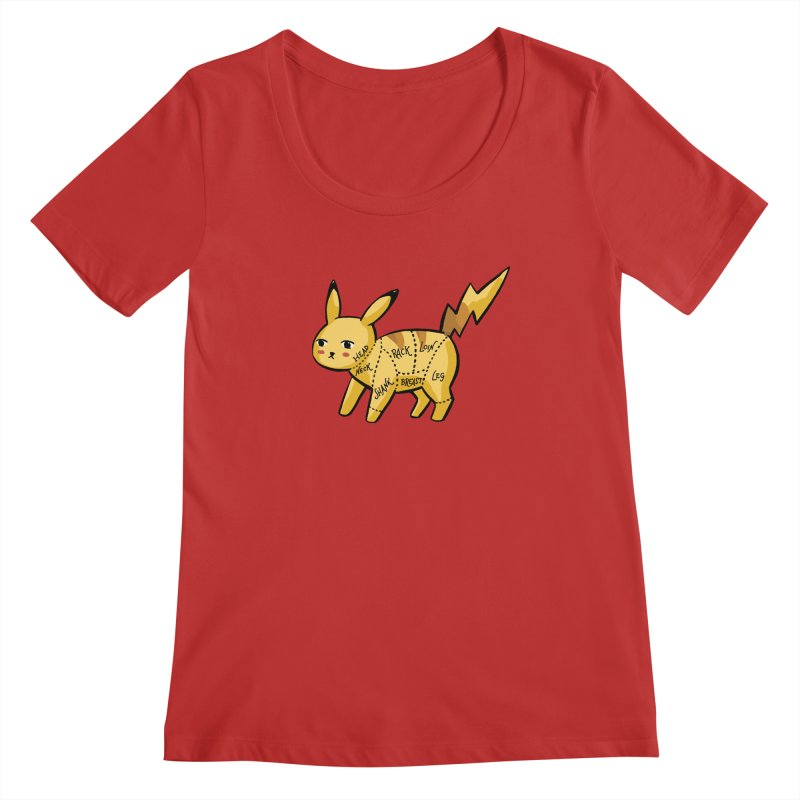 Pokecuts of Meat, I Women's Regular Scoop Neck by Sarah Becan