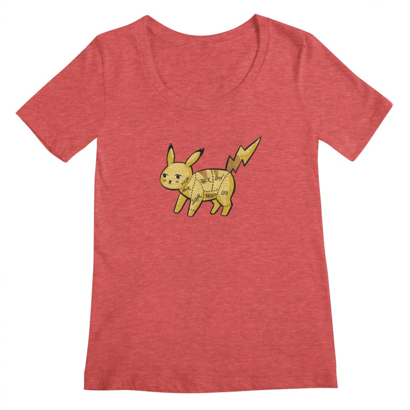 Pokecuts of Meat, I Women's Scoopneck by Sarah Becan