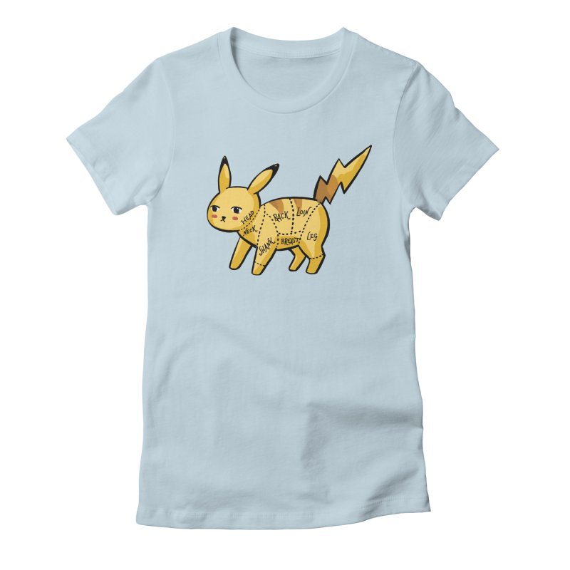 Pokecuts of Meat, I Women's Fitted T-Shirt by Sarah Becan