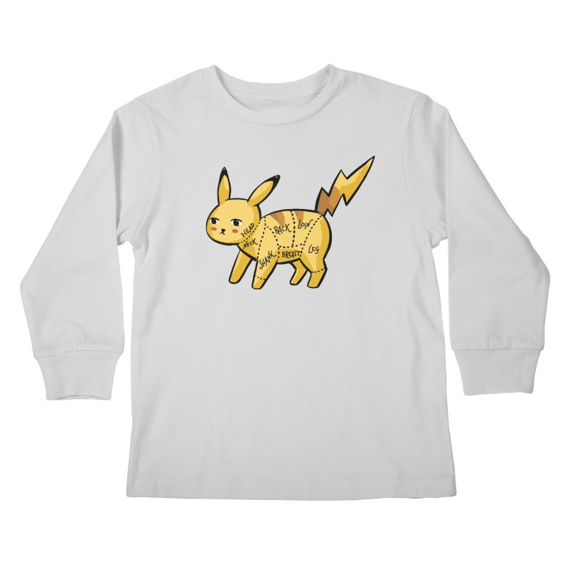 Pokecuts of Meat, I Kids Longsleeve T-Shirt by Sarah Becan