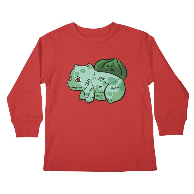 Pokecuts of Meat, II Kids Longsleeve T-Shirt by Sarah Becan