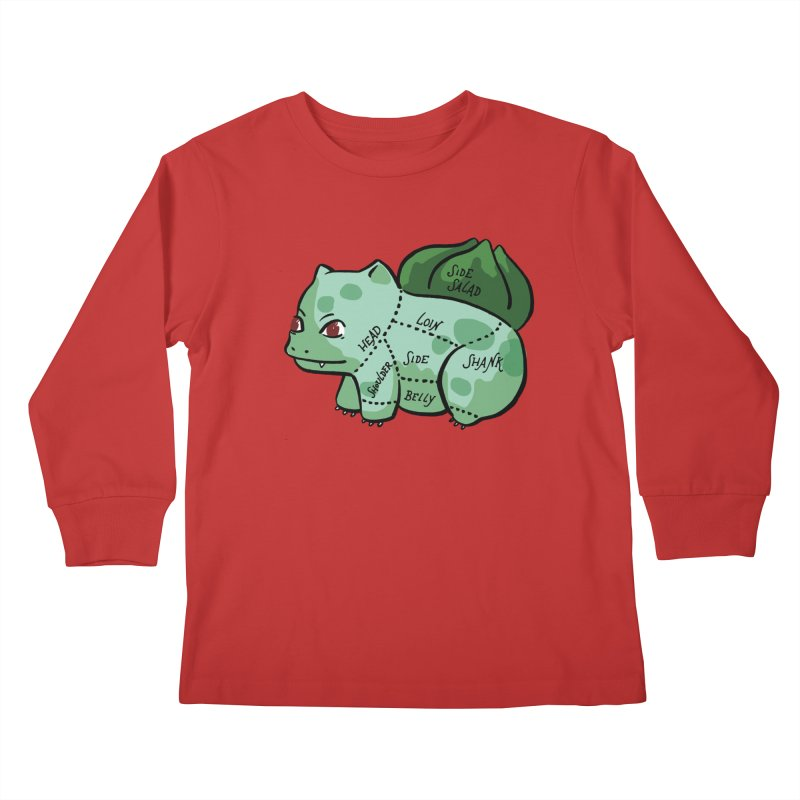 Pokecuts of Meat, II Kids Longsleeve T-Shirt by Sarah Becan