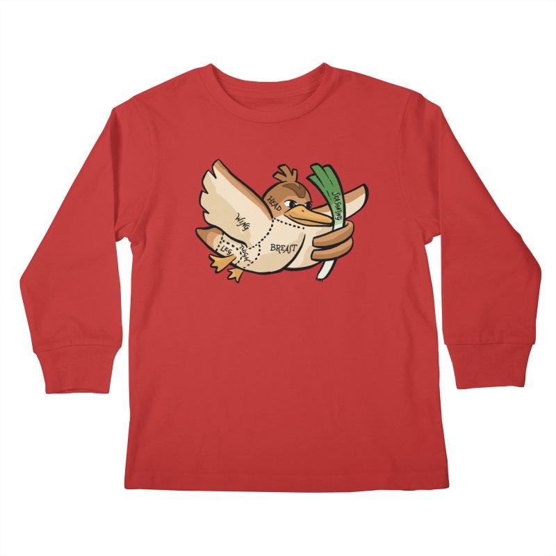 Pokecuts of Meat, III Kids Longsleeve T-Shirt by Sarah Becan