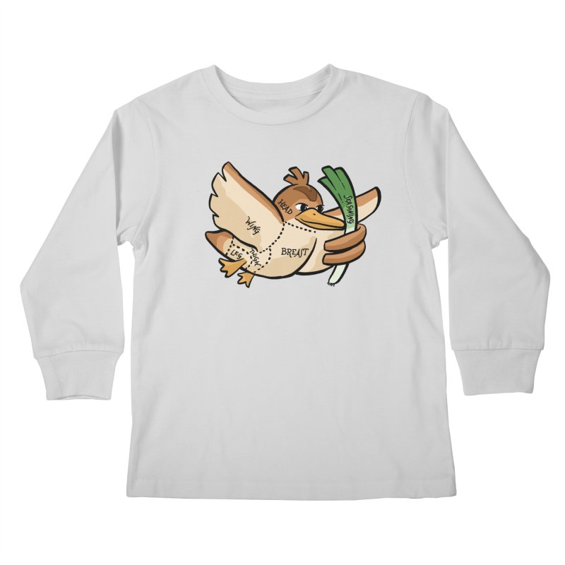 Pokecuts of Meat, III Kids Longsleeve T-Shirt by Sarah Becan