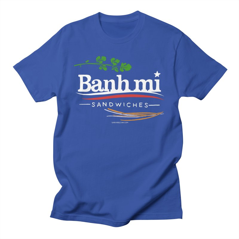 Banh Mi Sandwiches 2016! in Men's Regular T-Shirt Royal Blue by Sarah Becan