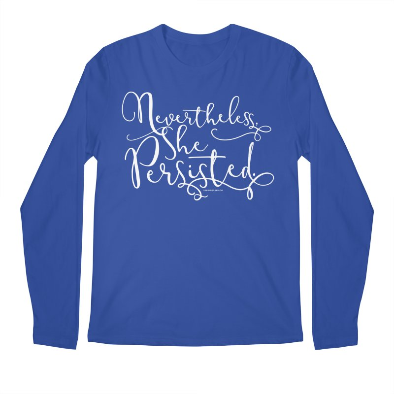 Nevertheless, She Persisted Men's Longsleeve T-Shirt by Sarah Becan