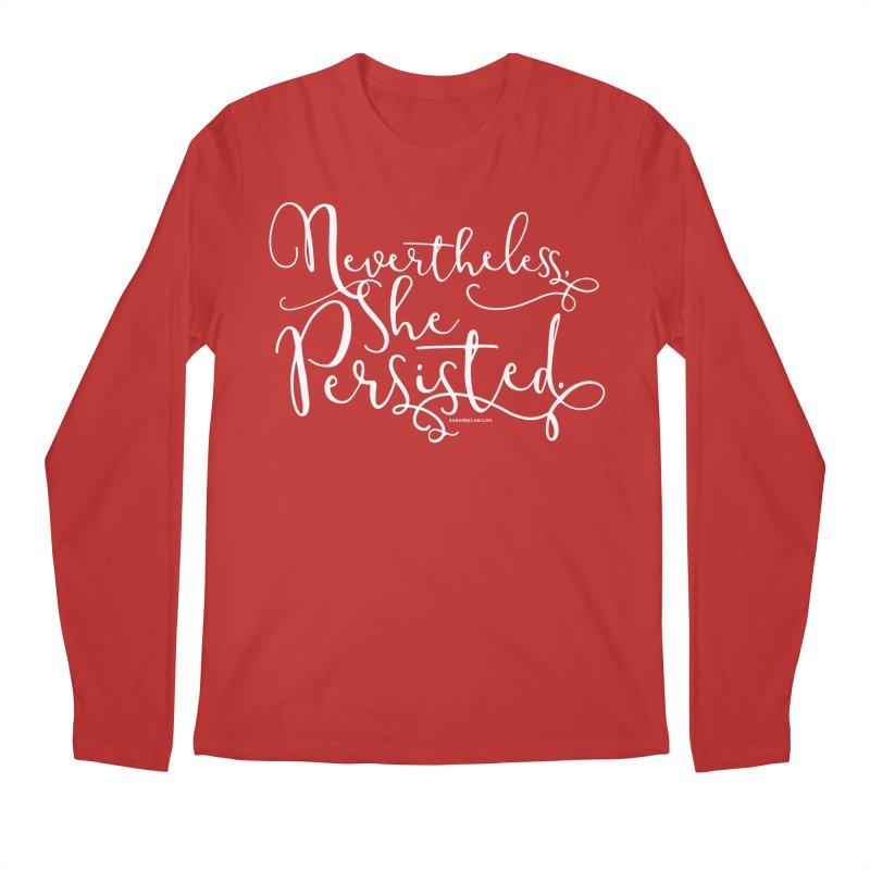 Nevertheless, She Persisted Men's Regular Longsleeve T-Shirt by Sarah Becan