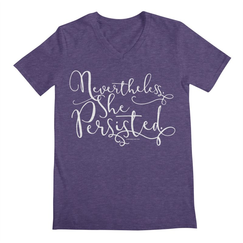 Nevertheless, She Persisted Men's Regular V-Neck by Sarah Becan