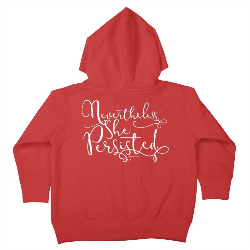 Nevertheless, She Persisted Kids Toddler Zip-Up Hoody by Sarah Becan