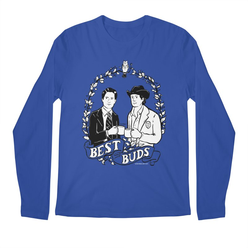 Best Buds Men's Regular Longsleeve T-Shirt by Sarah Becan