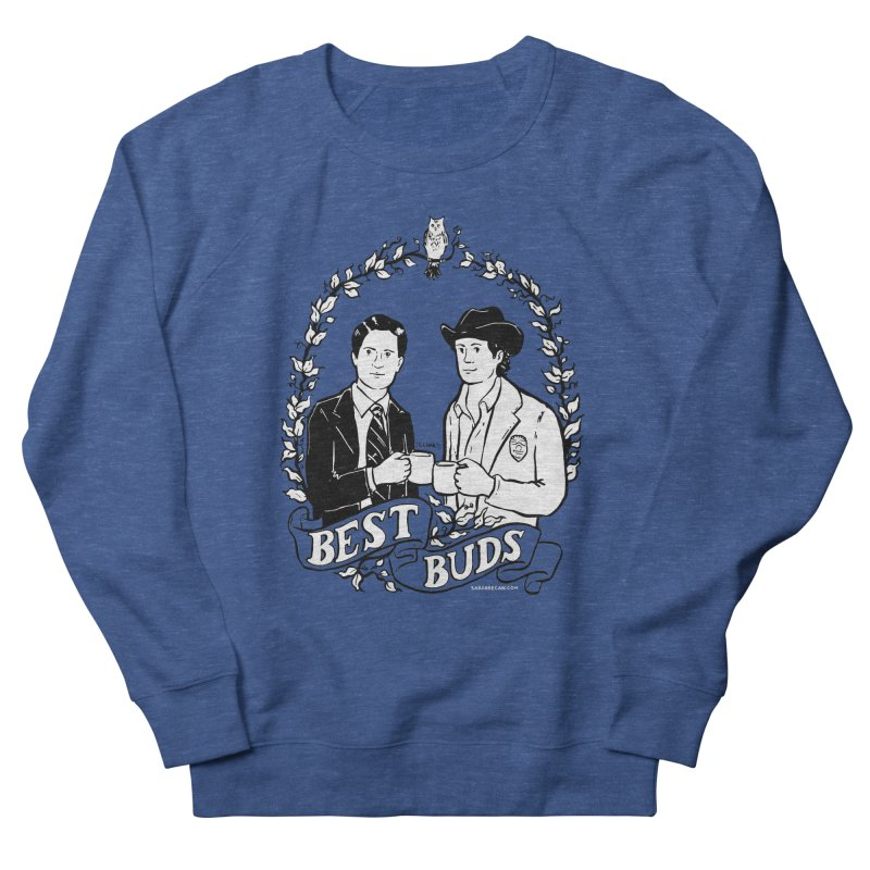 Best Buds Men's French Terry Sweatshirt by Sarah Becan