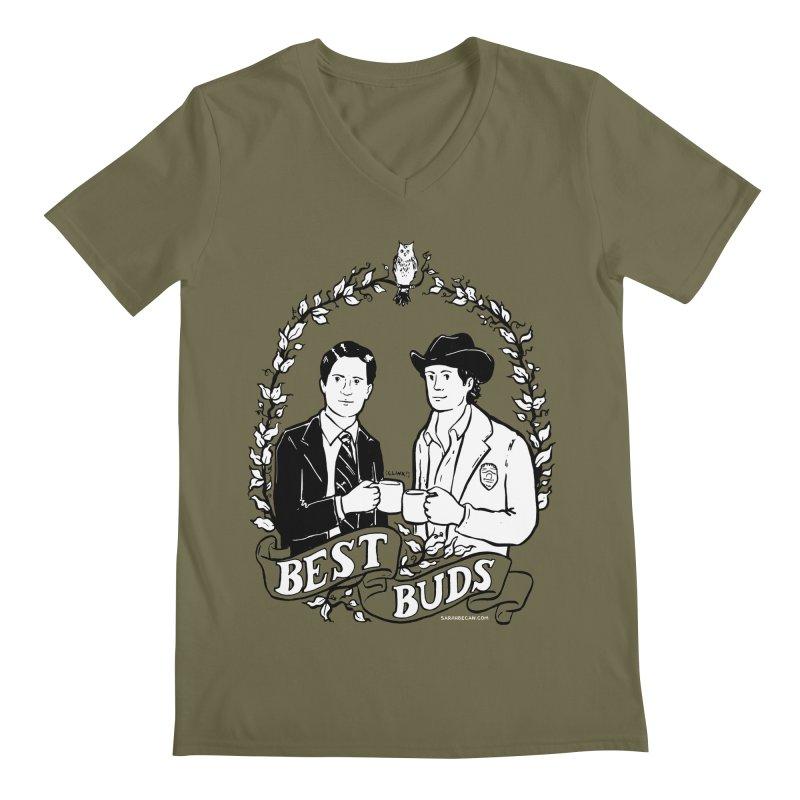 Best Buds Men's Regular V-Neck by Sarah Becan