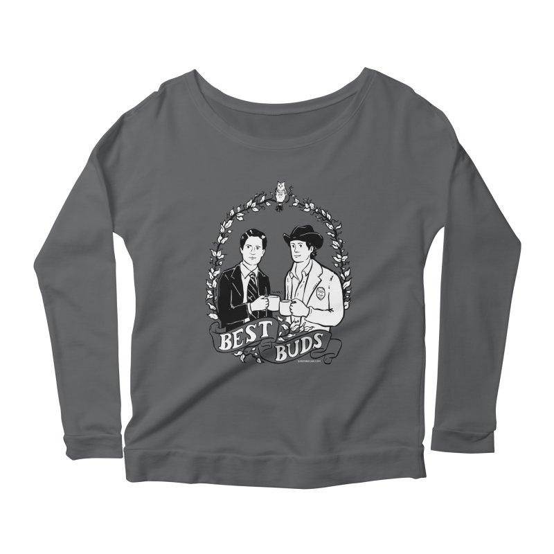Best Buds Women's Scoop Neck Longsleeve T-Shirt by Sarah Becan