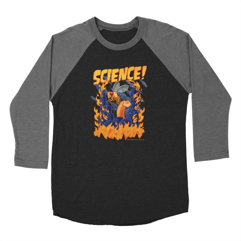 SCIENCE! with Gallio Lab Men's Baseball Triblend Longsleeve T-Shirt by Sarah Becan