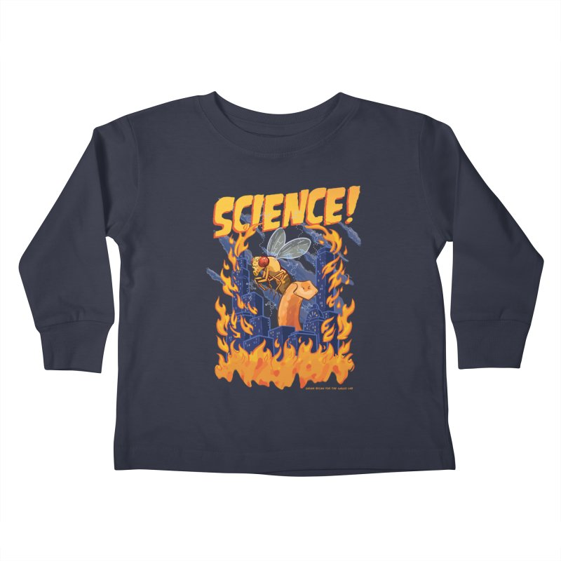 SCIENCE! with Gallio Lab Kids Toddler Longsleeve T-Shirt by Sarah Becan