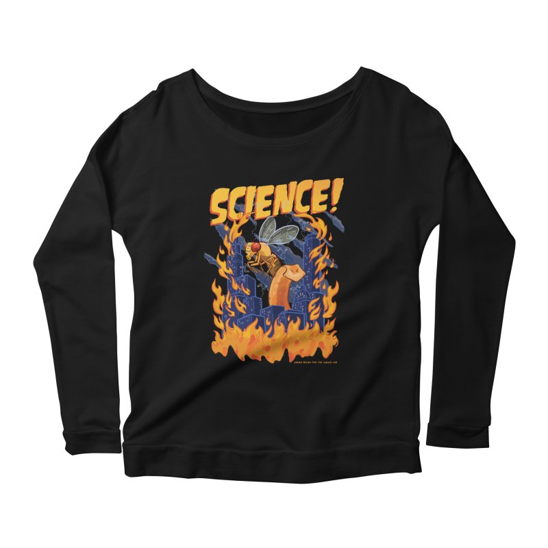 SCIENCE! with Gallio Lab Women's Scoop Neck Longsleeve T-Shirt by Sarah Becan