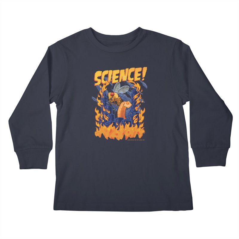 SCIENCE! with Gallio Lab Kids Longsleeve T-Shirt by Sarah Becan
