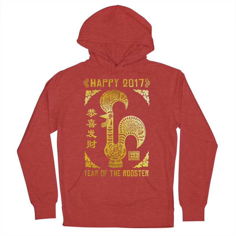 Fat Rice: Year of the Rooster Men's French Terry Pullover Hoody by Sarah Becan