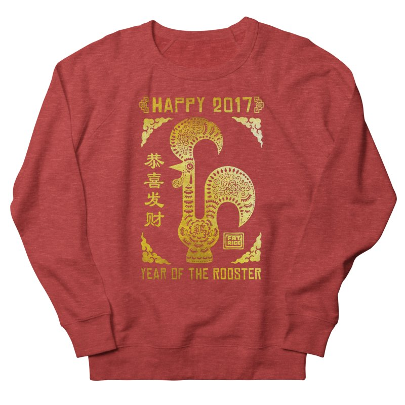Fat Rice: Year of the Rooster Women's French Terry Sweatshirt by Sarah Becan