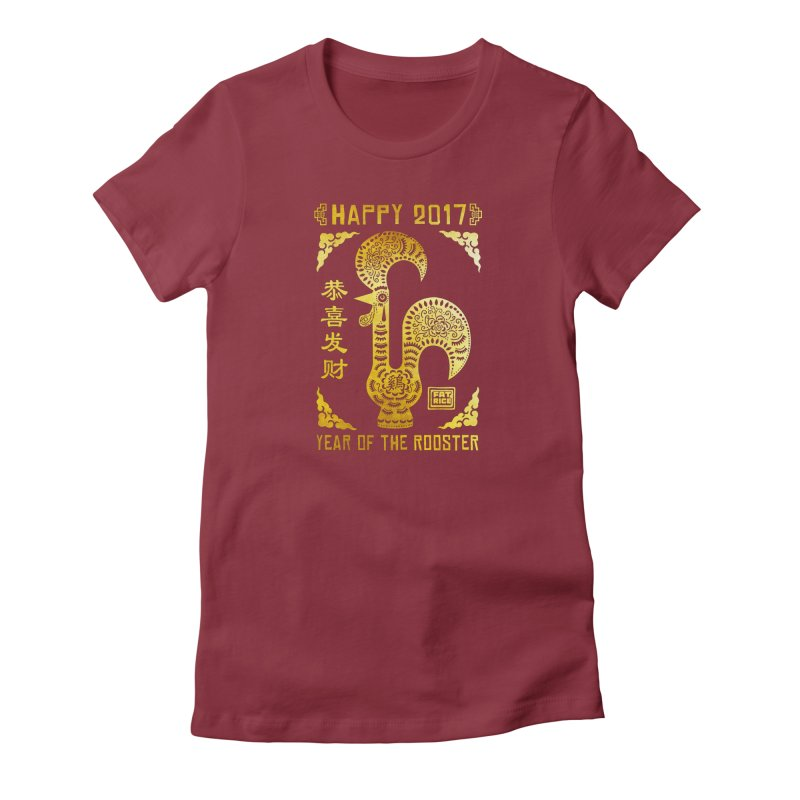 Fat Rice: Year of the Rooster Women's T-Shirt by Sarah Becan