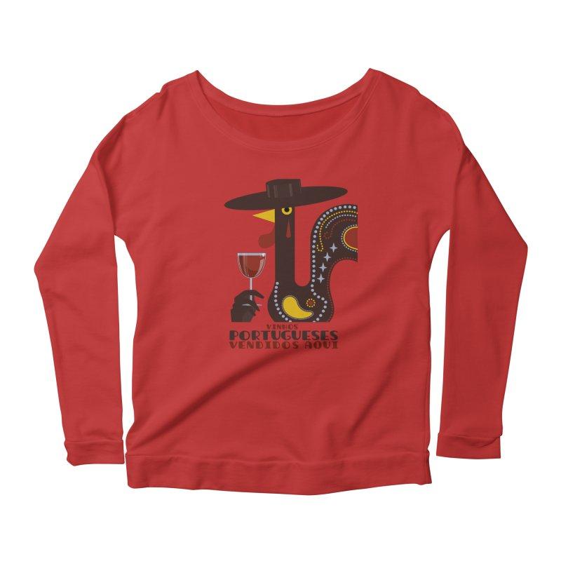 Fat Rice: Vinhos Portugueses Women's Scoop Neck Longsleeve T-Shirt by Sarah Becan