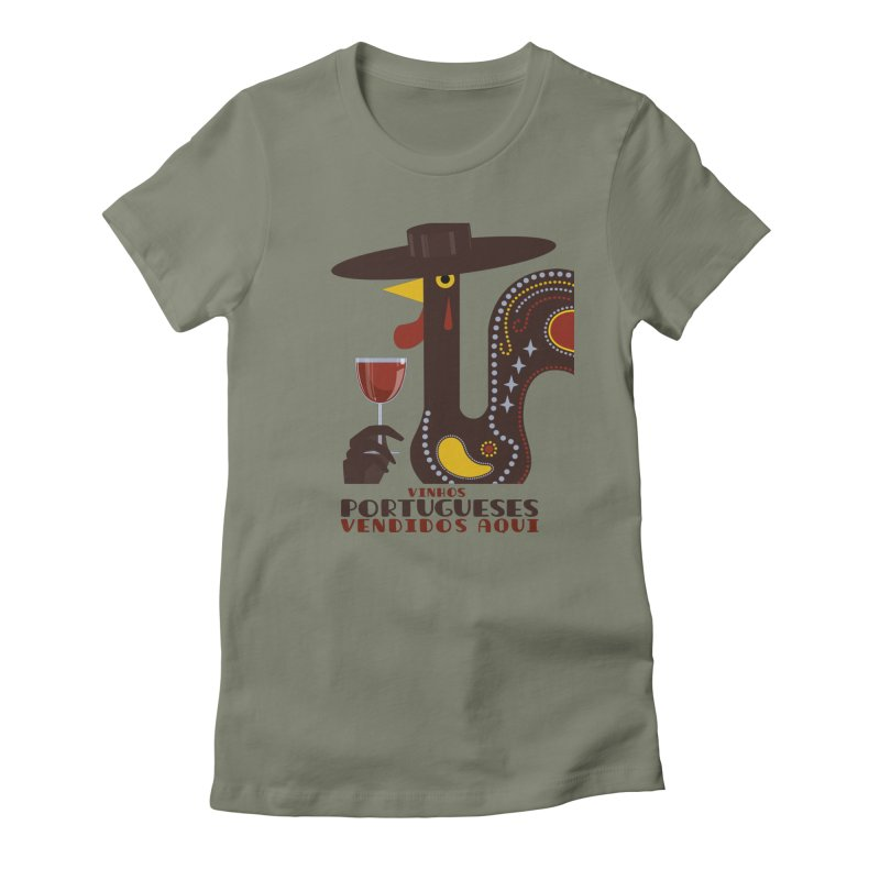 Fat Rice: Vinhos Portugueses Women's Fitted T-Shirt by Sarah Becan