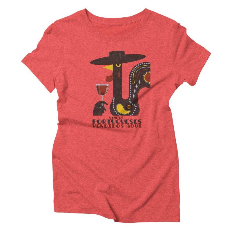Fat Rice: Vinhos Portugueses Women's Triblend T-Shirt by Sarah Becan