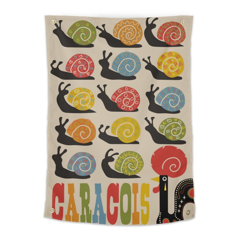 Fat Rice: Caracois Home Tapestry by Sarah Becan