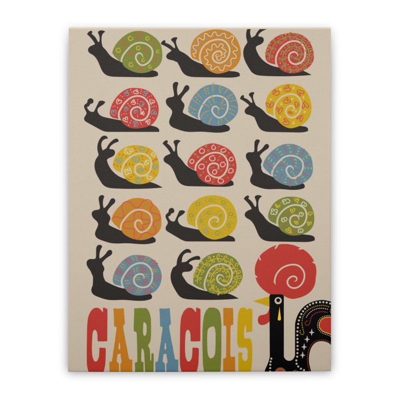 Fat Rice: Caracois Home Stretched Canvas by Sarah Becan