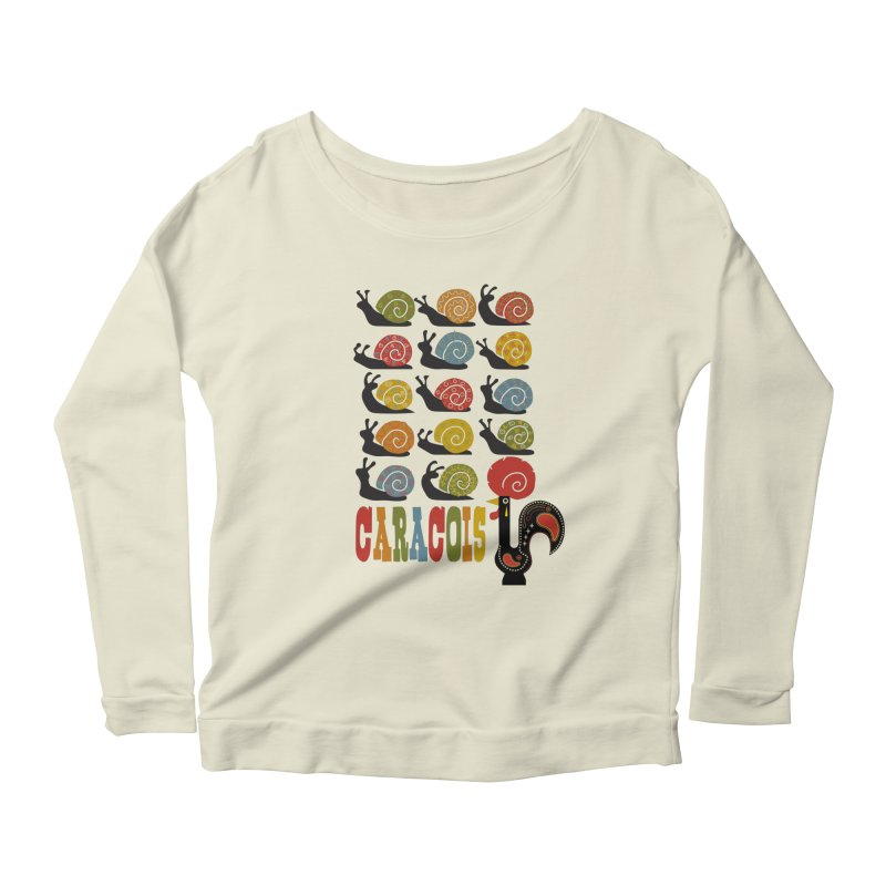 Fat Rice: Caracois Women's Scoop Neck Longsleeve T-Shirt by Sarah Becan