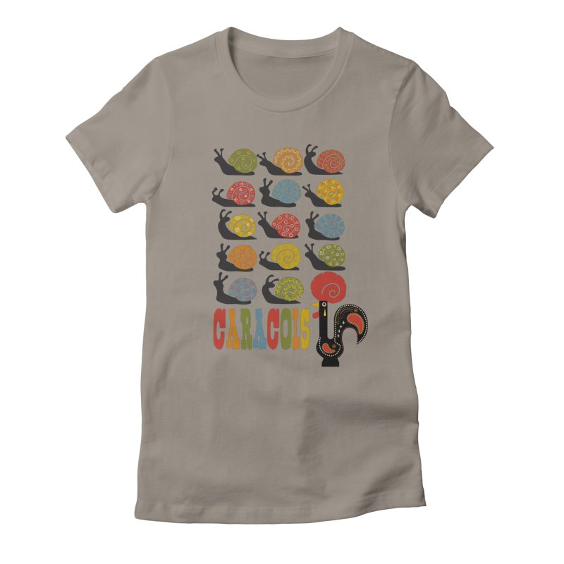 Fat Rice: Caracois Women's Fitted T-Shirt by Sarah Becan
