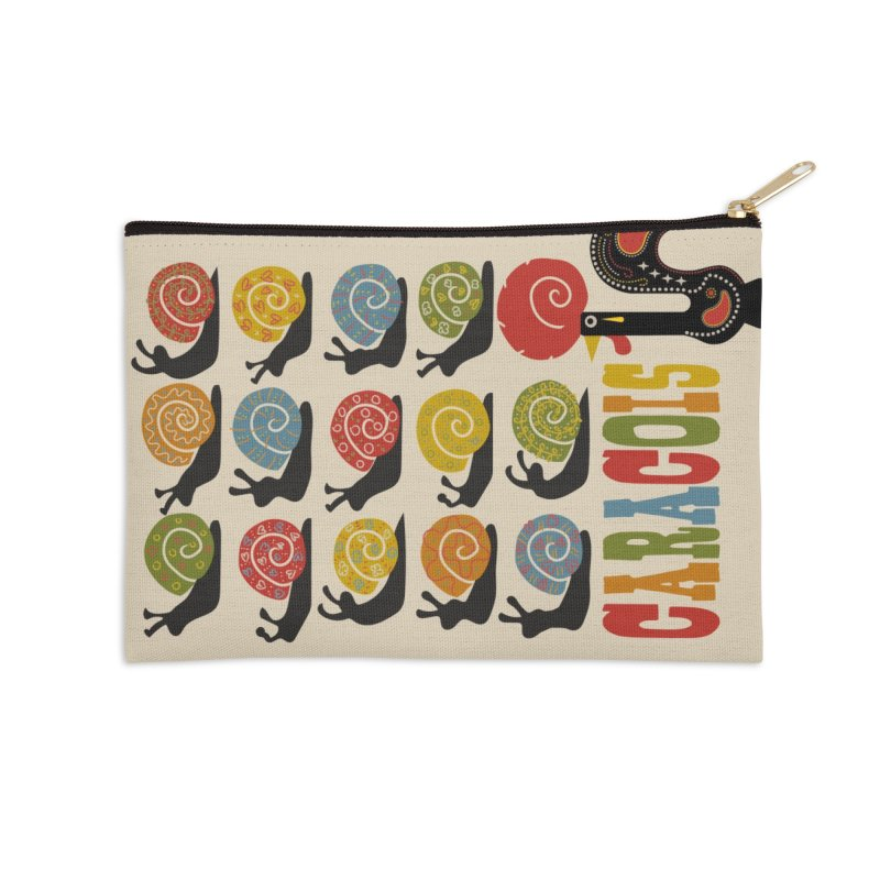 Fat Rice: Caracois Accessories Zip Pouch by Sarah Becan
