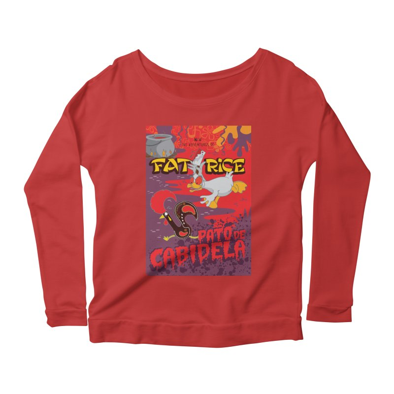 Fat Rice: Cabidela Women's Scoop Neck Longsleeve T-Shirt by Sarah Becan