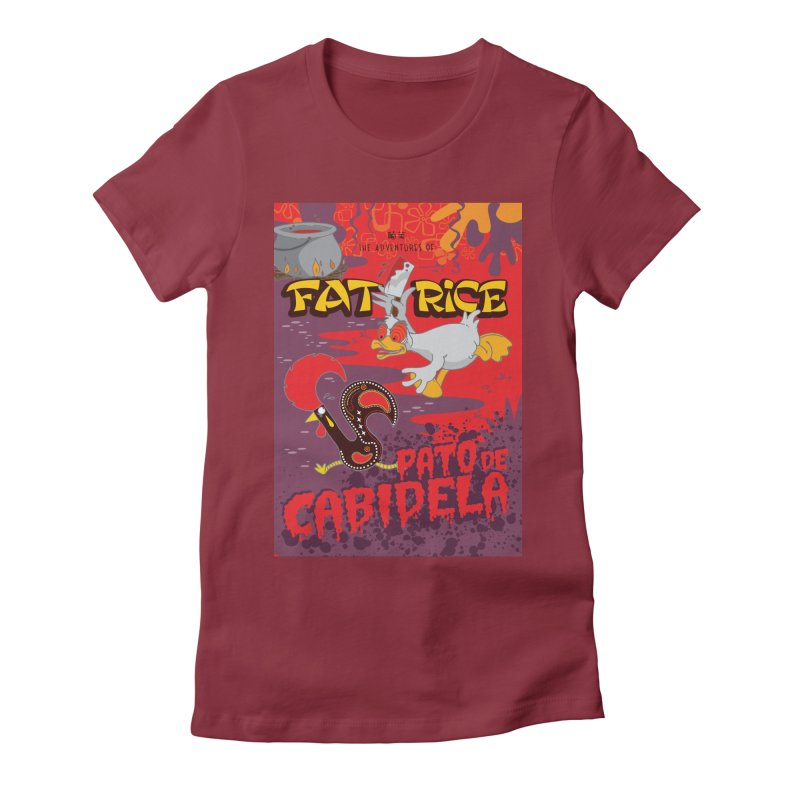 Fat Rice: Cabidela Women's Fitted T-Shirt by Sarah Becan