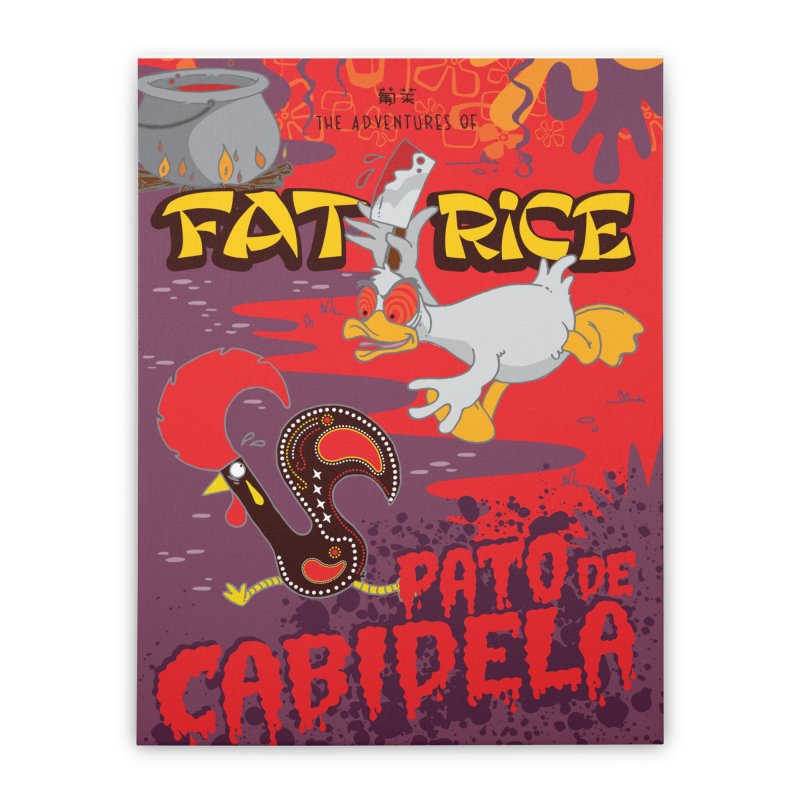 Fat Rice: Cabidela Home Stretched Canvas by Sarah Becan