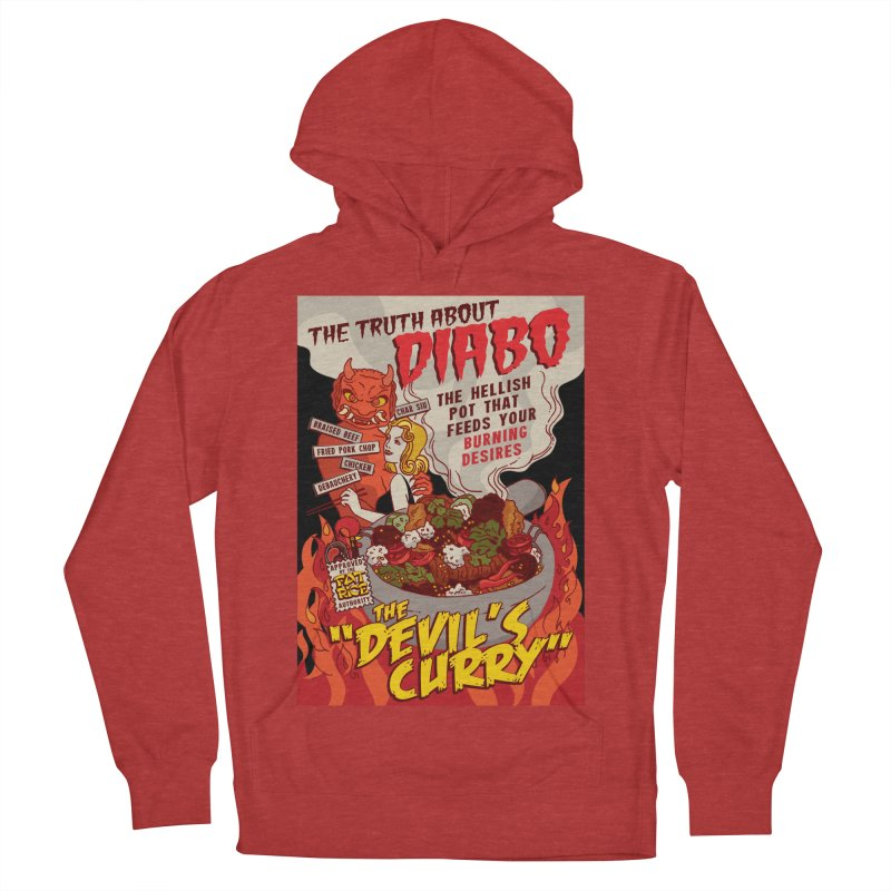 Fat Rice: Diabo Men's French Terry Pullover Hoody by Sarah Becan