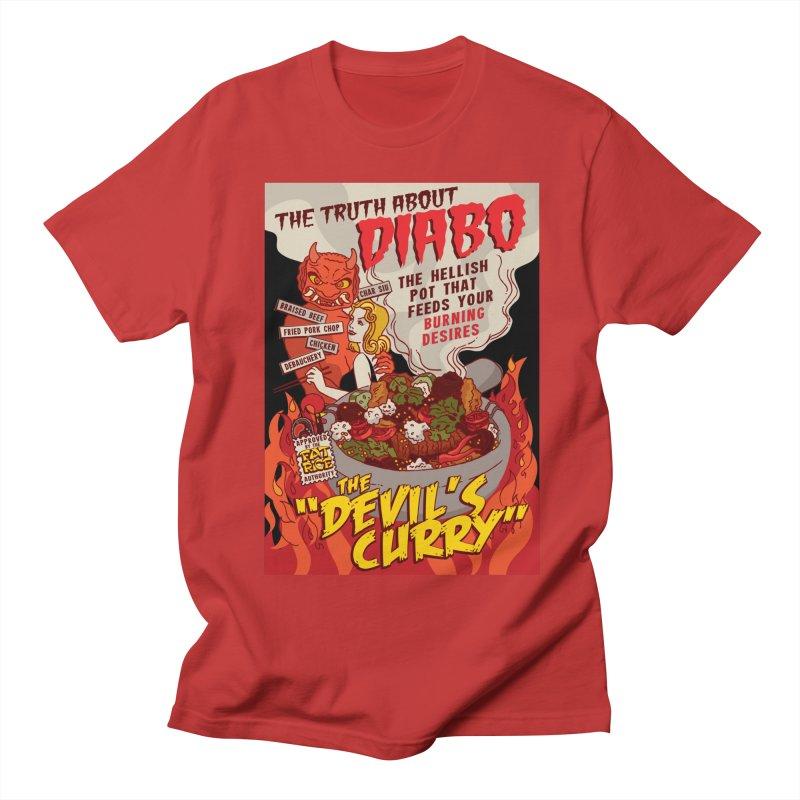 Fat Rice: Diabo Men's Regular T-Shirt by Sarah Becan