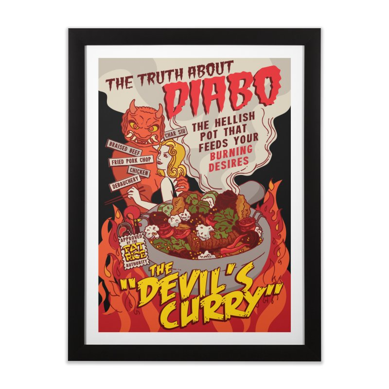 Fat Rice: Diabo Home Framed Fine Art Print by Sarah Becan