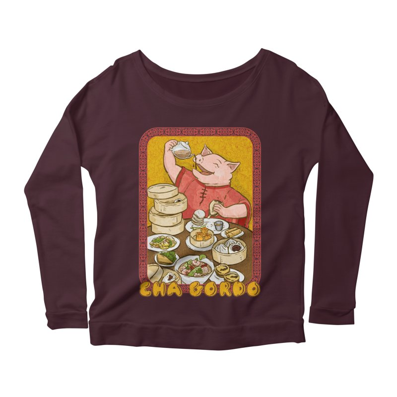 Fat Rice: Cha Gordo Women's Longsleeve Scoopneck  by Sarah Becan