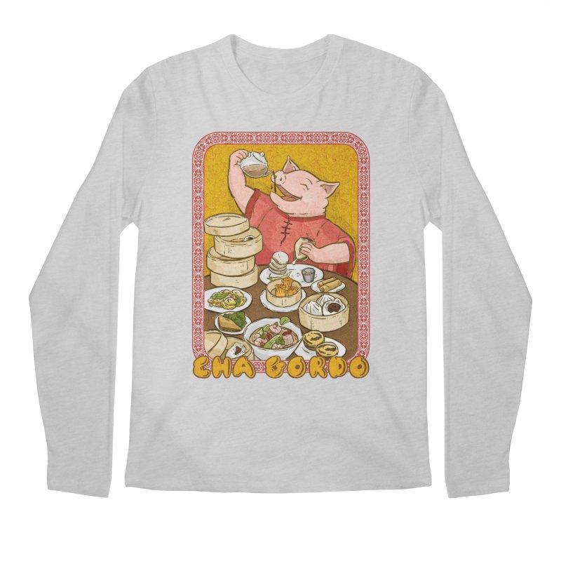 Fat Rice: Cha Gordo Men's Regular Longsleeve T-Shirt by Sarah Becan