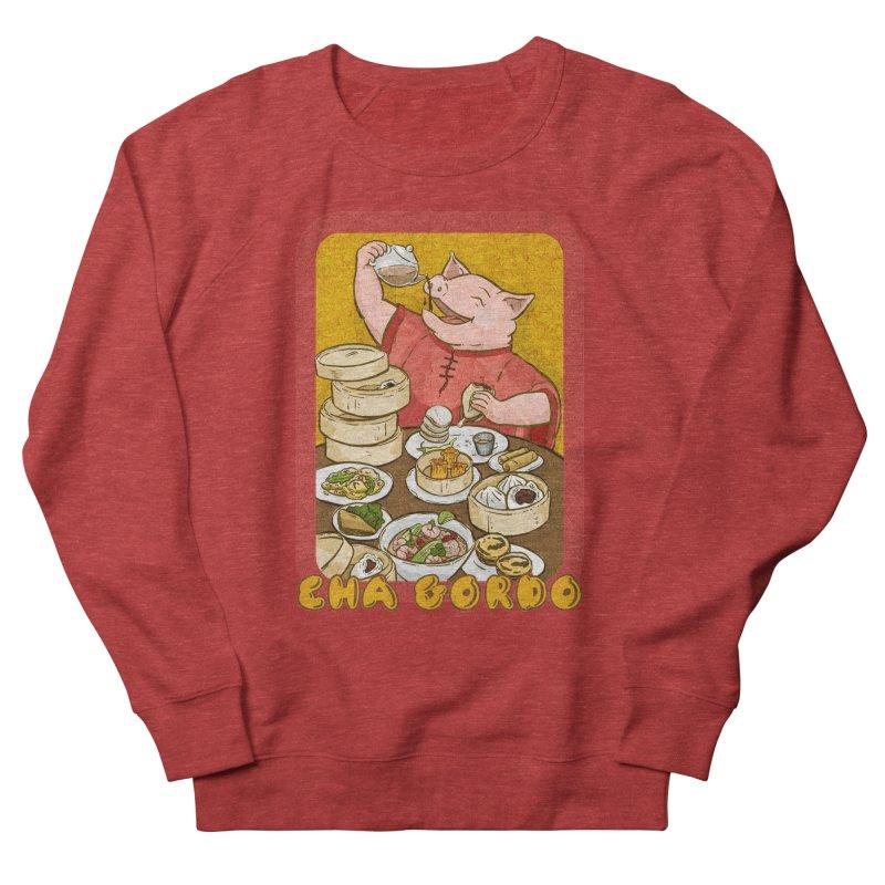 Fat Rice: Cha Gordo Men's French Terry Sweatshirt by Sarah Becan