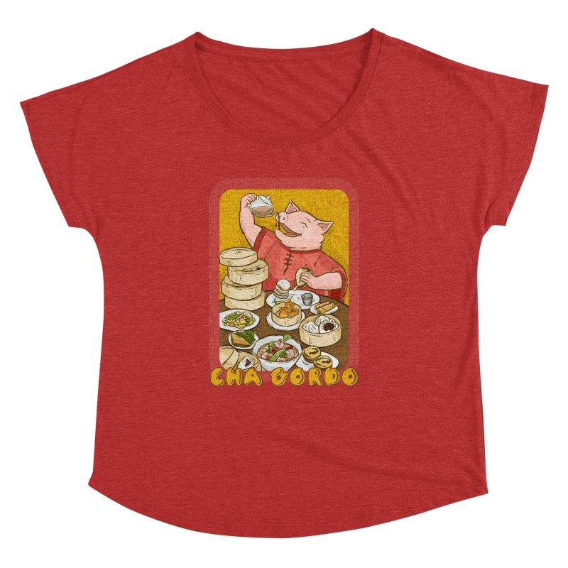 Fat Rice: Cha Gordo Women's Dolman Scoop Neck by Sarah Becan