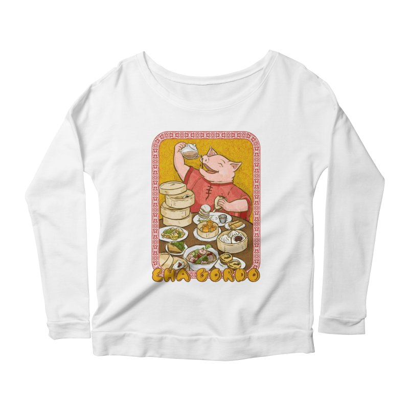 Fat Rice: Cha Gordo Women's Scoop Neck Longsleeve T-Shirt by Sarah Becan
