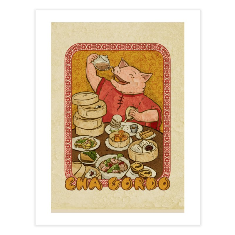 Fat Rice: Cha Gordo Home Fine Art Print by Sarah Becan